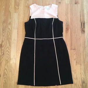 LOFT black/pink dress size 14